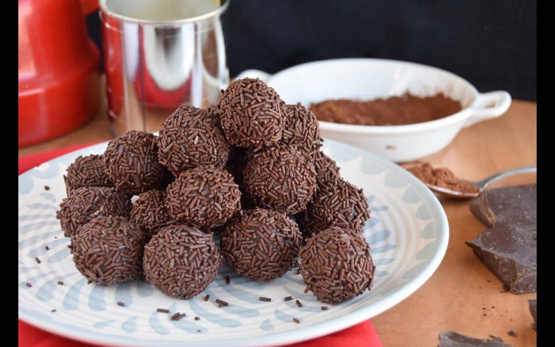 Trufas de chocolate y leche condensada fáciles